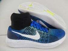 MENS NIKE LUNAREPIC ID BLUE-BLACK-WHITE SZ 9 WIDE [850592-993]