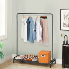 Modern Metal Clothing Garment Rack Storage Shelf For Boxes Shoes Heavy Duty Us