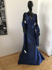 AbendKleid mit Stola Pronovias, EUgr-44, (UVP 739€), Blau. Neu mit Etikett