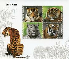 Wild Animals Stamps 2019 MNH Tigers Tiger Mammals Fauna 4v M/S