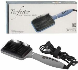 Perfecter By Calista Tools Heated Paddle Hot Brush Pro Grip Straightener 410°
