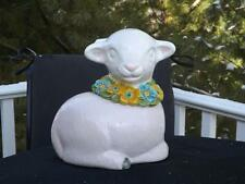 Vintage Metlox Poppytrail Lamb Flower Collar Cookie Jar California EXC