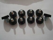 Lote de 100 tornillos ajuste roscado M4 longitud 10mm botones de sujeción