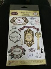 JustRite Clear Antique Valentine Tags Acrylic Stamp Set CR-04325 Spellbinders