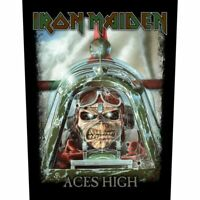 "IRON MAIDEN - ""ACES HIGH"" - LARGE SIZE - SEW ON BACK PATCH"