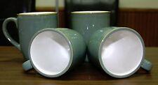 Dansk Plateau Green Coffee Mug / Cup Cream inside Stoneware Lot Set of 4  -  NEW