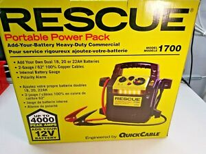 Rescue 1700 Heavy Duty Commercial 12V Portable Power Pack (Battery NOT Included)