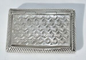 1819-1838 Antique French 950 Sterling Silver Snuff Box