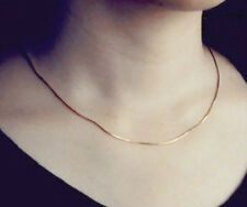ROSE GOLD PLATED SNAKE CHAIN NECKLACE 45CMS