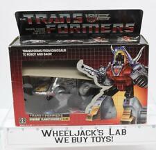 Slag NR MINT FIGURE MIB 100% Complete 1985 Vintage Hasbro G1 Transformers