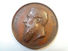 Léopold II Roi des Belges 1876 - Exposition et congrès d'Hygiène et de Sauvetage