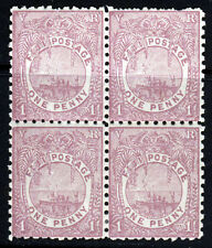 FIJI Queen Victoria 1891-98 1d. Rosy Mauve Perf 11 A BLOCK OF FOUR SG 88a MINT