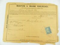 1901 Boston & Maine Railroad Freight Receipt Shipping Stamped