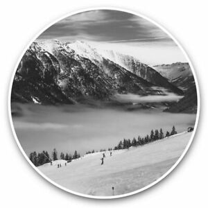 2 x Vinyl Stickers 20cm (bw) - Austrian Ski Resort Mountains Austria  #43255