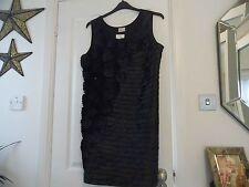 Roman Originals Black Decorated Evening/Party Dress - Size 16