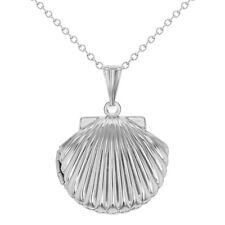 "Marine Sea Shell Photo Locket Pendant Necklace for Girls 19"""