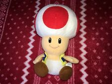 "Official 7"" Sanei Super Mario Party 5 TOAD Mario Plush Nintendo Toy Japan 2004"