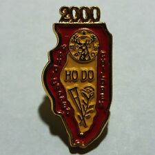 "Gold Toned 2000 Illinois B.P.O.E. Ho Do Handicapped Children 1"" Lapel Pin NR"