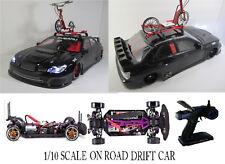 Custom 1/10 Scale Remote Control On-road Drift Car RC SUBARU IMPREZA WRC BLACK