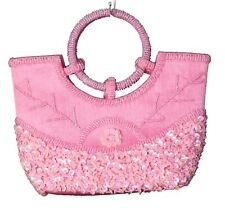 Beaded bags wedding - party - evening - top handle pink