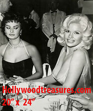 "Jayne Mansfield~Sophia Loren~Personality Poster~20"" x 24"" Photo"