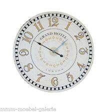 XXL Wanduhr 80 cm Antik Look Bahnhofsuhr Uhr LONDON Nostalgieuhr Küchenuhr rund