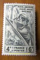 EBS Vichy France 1944 100 Years Paris-Orléans Paris-Rouen Railways YT 618 MNH**