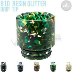(Pack of 1) 810 Drip Tip Glitter - Smok Freemax VooPoo with 810 Fitting DTSL240