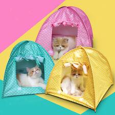 Portable Pet Kitten Nylon Tent Playpen House Cat Fun Crate Pen Sun Shelter Toy