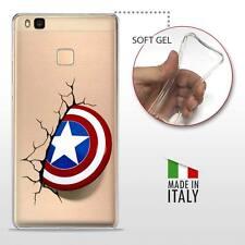 Huawei P9 Lite CASE COVER GEL PROTETTIVA TRASPARENTE DC MARVEL Captain America