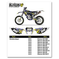 2015 SHERCO Team Motoboutique Dirt Bike Graphics Custom Number Plates