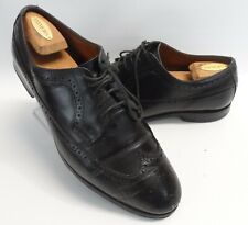 Mens Allen Edmonds Mcgregor Wingtips Black Leather Oxfords Size 11 EEE Wide