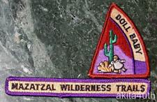 Mazatzal Wilderness Trails Strip & Doll Baby Patch - Grand Canyon Council BSA