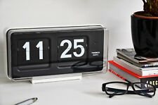 Twemco BQ50 Klok. Flipklok in wit. Groot. / Twemco Flipclock in White. Large.