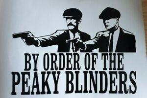 1x Peaky Blinders Car Gun Van Vinyl Sticker Decal Graphic Window 8x5.5inch Black