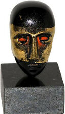 Kosta Boda Bertil Vallien - Head / black with gold- sign  lim Edition NEU unben.