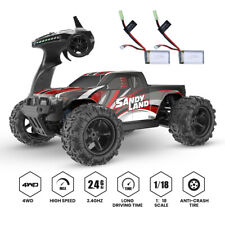 4Wd 1:18 Scale Rc Car High Speed Car 30+ Mph 4Wd Off Road Trucks 2 Battery New