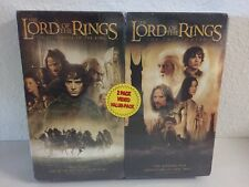 NEW The Lord of the Rings VHS 2 Pack Fellowship & Two Towers Video NIP
