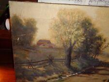 New England Tonalist Country Roadside O/C c.1875-UF-US-tonalist painting-superio