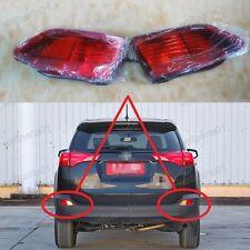 1Pair Rear Bumper Reflector Fog Lights Lamps for Toyota RAV4 2013-2015