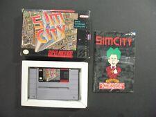 SNES Super Nintendo Game CIB SIM CITY Maxis Cartridge Manual Mint in Box S