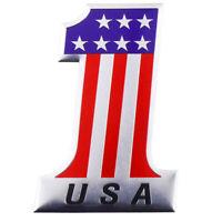 USA #1 Flagge Autoaufkleber Stars & Streifen Glitzer Emblem 3D Vereinigte