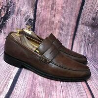 Banana Republic Men's Brown Leather Slip On Penny Loafer Shoes Size 9 M
