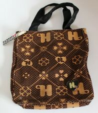Harajuku Lovers Handbag Purse - Brown Pattern Canvas Tote With Bag Charm