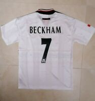 MAGLIA MANCHESTER UNITED BECKHAM 7 RETRO JERSEY PATCH 1998 1999 SOCCER