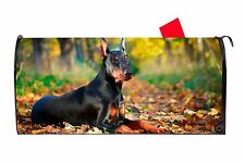 Doberman Dog Magnetic Vinyl Mailbox Cover Made in the Usa