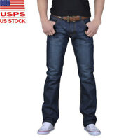 Men's Autumn Or Winter Denim Cotton Hip Hop Loose Work Long Trousers Jeans Pants