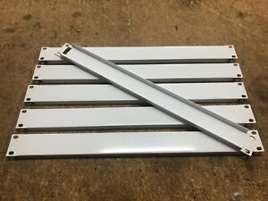 "(Lot of 6) Middle Atlantic 1U 19"" rack covers blank panels White"
