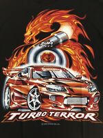 Mens New Large Zum Speed Car Turbo T Shirt Dykom USA Black Rare 2005 Vintage