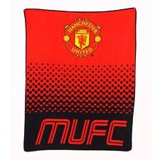 Manchester United Official Licensed Fade Fleece Blanket Football Gift